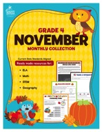 November Monthly Collection, Grade 4