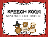 November Monthly Exit Tickets
