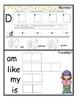 November Monthly Homework for Kindergarten- Editable