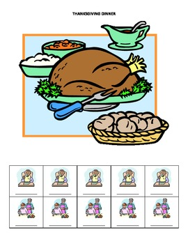 November Monthly Name Game for Articulation and Language:  Thanksgiving Dinner