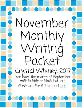 November Monthly Packet