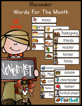 November Monthly Words