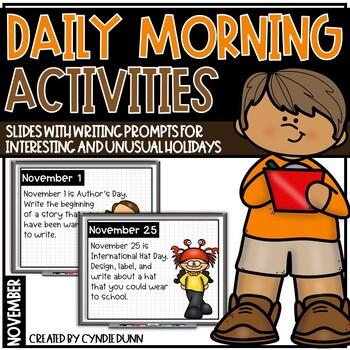 November Morning Activities