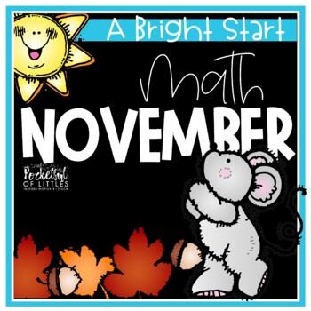 November Morning Bright {Kindergarten Math Morning Work}