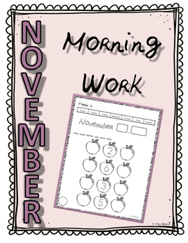 November Morning/Calendar Work for the Entire Month