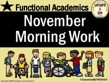 November Morning Folder - Functional Academics