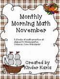 November Morning Math