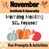 November Morning Meeting Slides & Workbook: Social Emotion