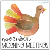 November Morning Meetings - Distance Learning - Online Learning