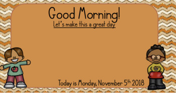 November Morning Message