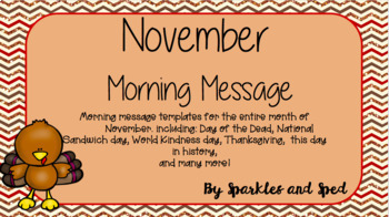 November Morning Message