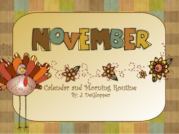 November Calendar and Morning Routine