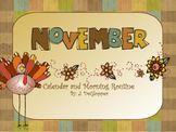 November Calendar and Morning Routine