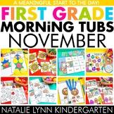 November Morning Tubs for 1st Grade