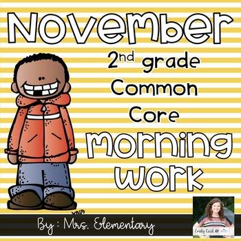 2nd Grade Common Core November Morning Work