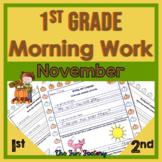 First Grade Morning Work, Nov. Language, Sight Word Practi