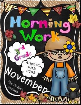 November Morning Work-CCSS Aligned
