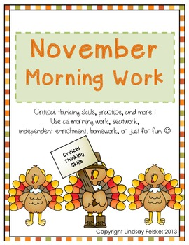 November Morning Work-Critical Thinking