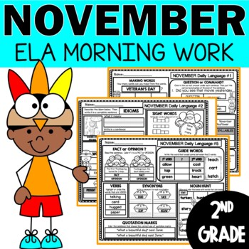 November Morning Work Daily Language for Second Grade