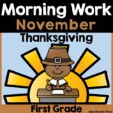 November Morning Work {1st Grade}
