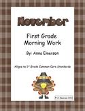 November Morning Work First Grade