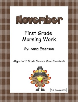 November Morning Work First Grade