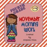 November Morning Work: Fourth Grade