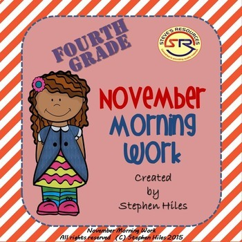 November Morning Work: Fourth Grade