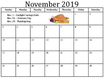 November Morning Work Functional Academics