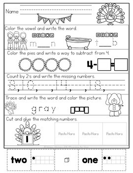 November Morning Work {Kindergarten}