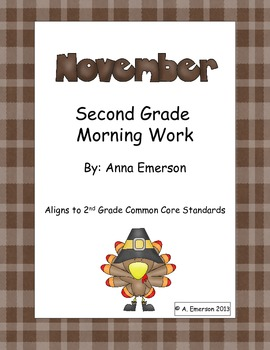 November Morning Work Second Grade