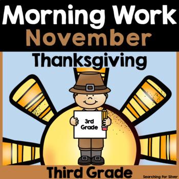 November Morning Work {Third Grade}