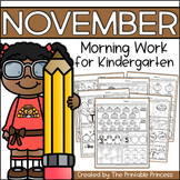 November Morning Work for Kindergarten