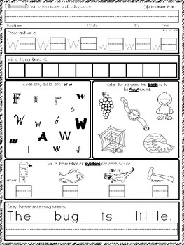 Kindergarten Morning work November Pack #Spirals #40 pages