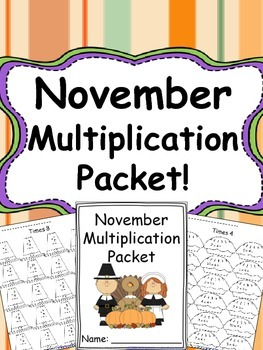 November Multiplication Packet {Just Print & Go!}