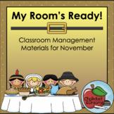 November   My Room's Ready!   Classroom Management Bundle