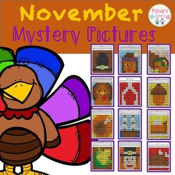 November Mystery/Hidden  Picture Color the 100 chart