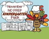 November NO PREP Kindergarten Language Arts Pack - Common