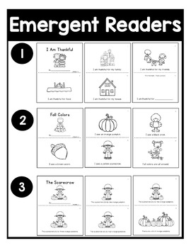 November NO PREP Kindergarten Packet-Over 100 Pages!