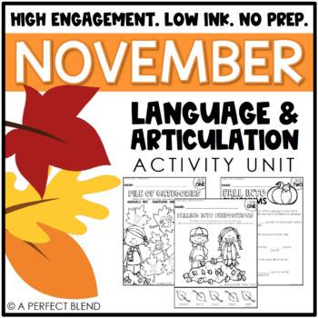 November NO PREP: Language & Articulation