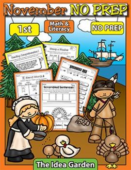 November NO PREP - Math & Literacy (First)