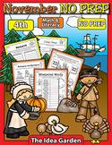 November NO PREP - Math & Literacy (Fourth)