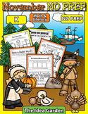 November NO PREP - Math & Literacy (Kindergarten)