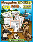 November NO PREP - Math & Literacy (Second)