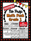 November NO PREP Math - 1st Grade