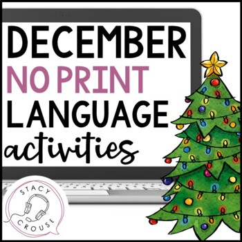 December NO PRINT Language Pack Interactive PDF {With Print Option}