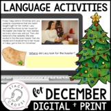 December Language Activities No Print Interactive PDF & Pr