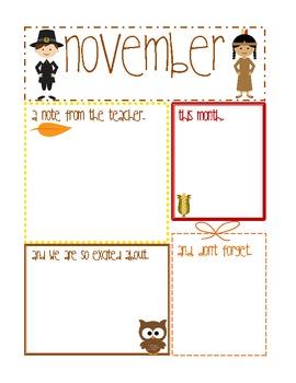 November Newsletter (Editable using Adobe Acrobat)