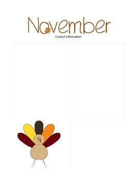 November Newsletter Template
