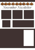 November Newsletter Template Brown and White